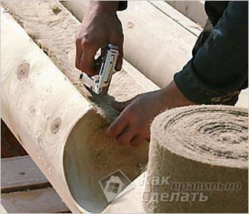 Как делается сруб из бревна